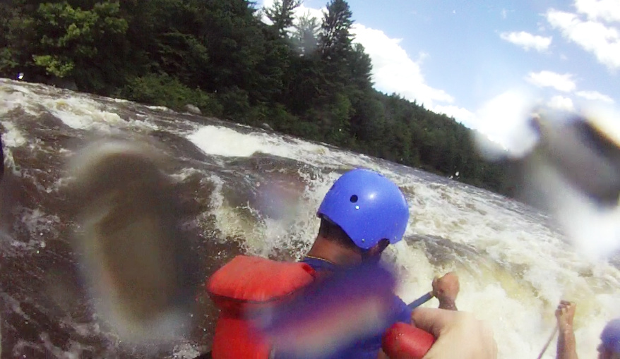 """The actual """"moment"""" of no turning back. I was out of the boat less than a second later."""