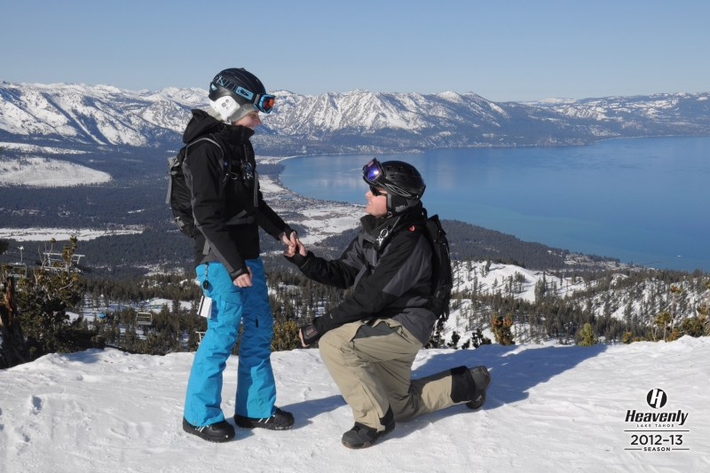Yep. Heavenly Mountain proposal right at an elevation of 10,040 ft. So us. (Thank you Greg M from EpixMix!!!)