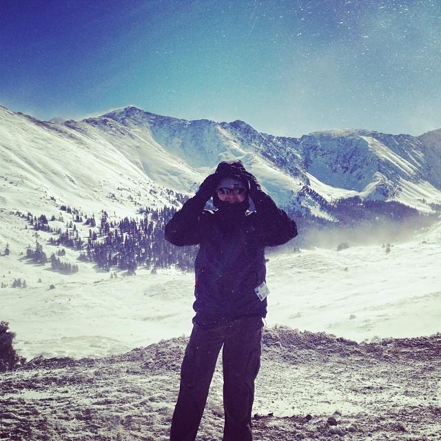 Rob at Loveland Pass