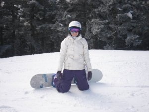 Far too much enthusiasm after realizing that I *did* know how to snowboard for real!