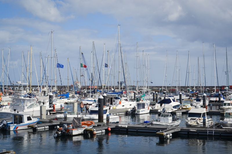 The marina across from Hotel Marina Atlântico. We spent many hours checking out the boats from all around the world!